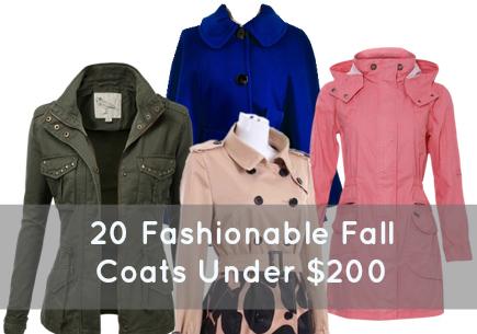 20 fashionable fall coats under $200