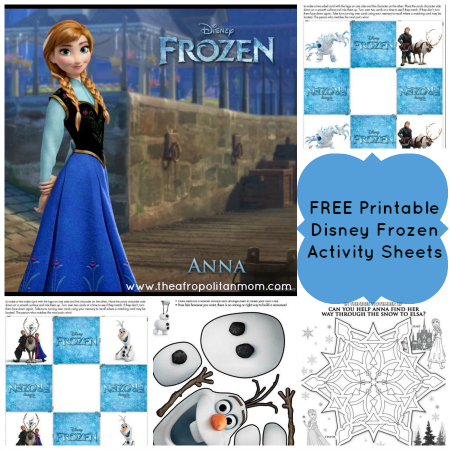 FREE Printable Disney's Frozen Activity Sheets
