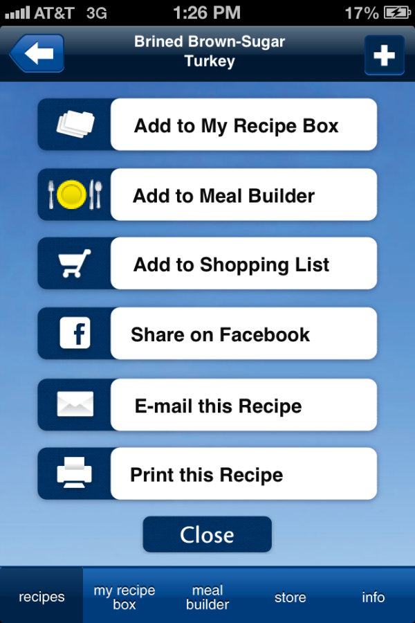 Butterball Cookbook Plus App