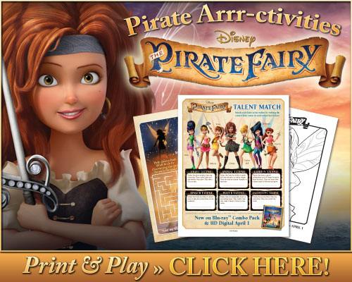 Free Pirate Fairy Activity Sheets & Coloring Pages