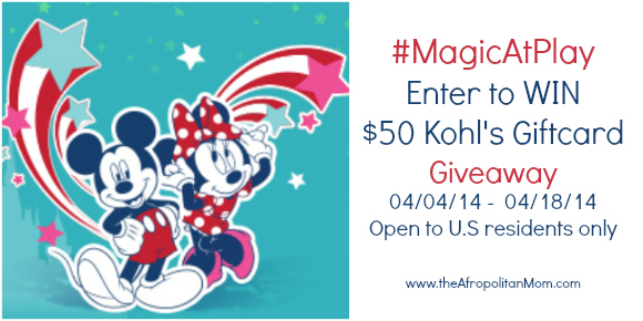 Disney's  Magic At Play  $50 Kohl's Giftcard Giveaway