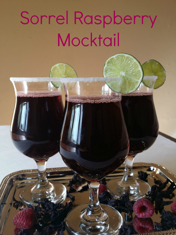 Sorrel Raspberry Mocktail recipe - zobo