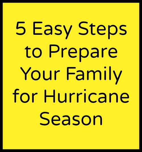 5 EASY Steps to Prepare Your Family For Hurricane Season