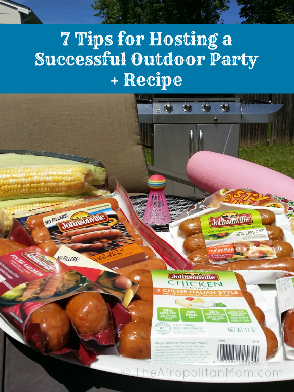 7 Tips for Hosting a Successful Outdoor Party + #recipe #JvilleRecipes