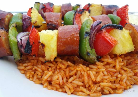 Sausage and Pineapple Kebab