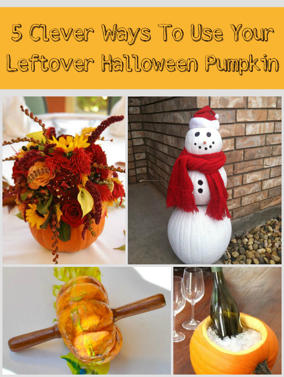 5 Clever Ways To Use Your Leftover Halloween Pumpkin DIY