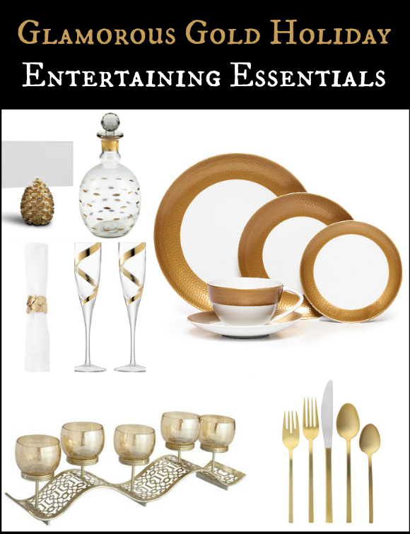Glamorous Gold Holiday Entertaining Essentials