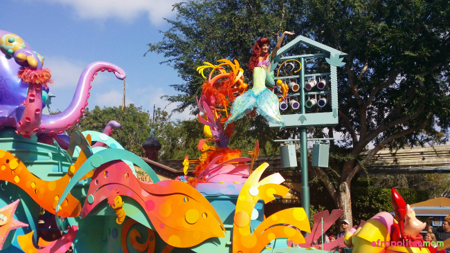 Ariel at the Disneyland Soundsational Parade