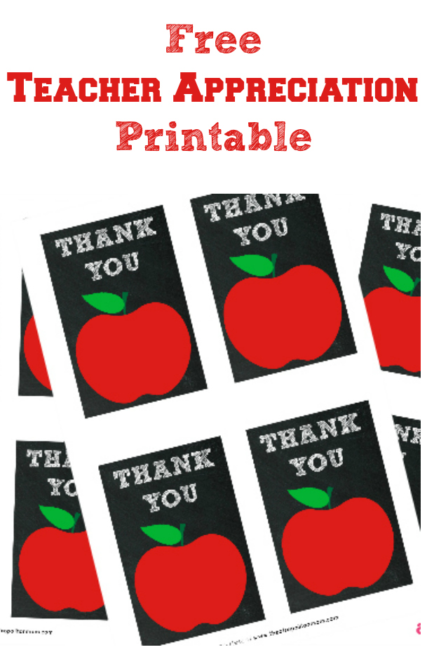 Free Teacher Appreciation Printable - Tags - Cards