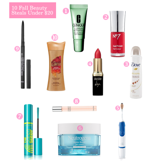 10 Fall Beauty Steals Under $20
