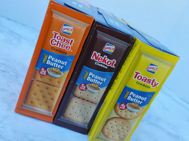 Lance Peanut Butter Sandwich Crackers and Cookies