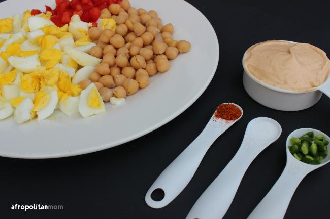 Mediterranean Egg Salad Ingridents