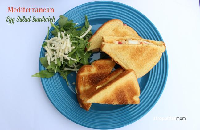 Mediterranean Egg Salad Sandwich