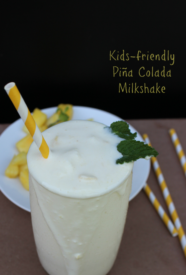 Kid-Friendly Piña Colada Milkshake