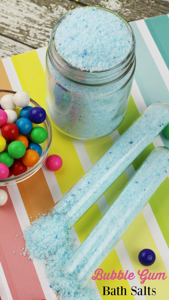 DIY Bubble Gum Bath Salts