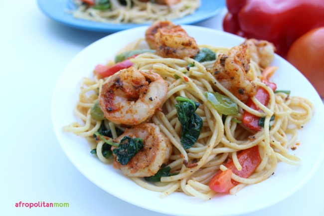 Simple Cajun Shrimp Pasta