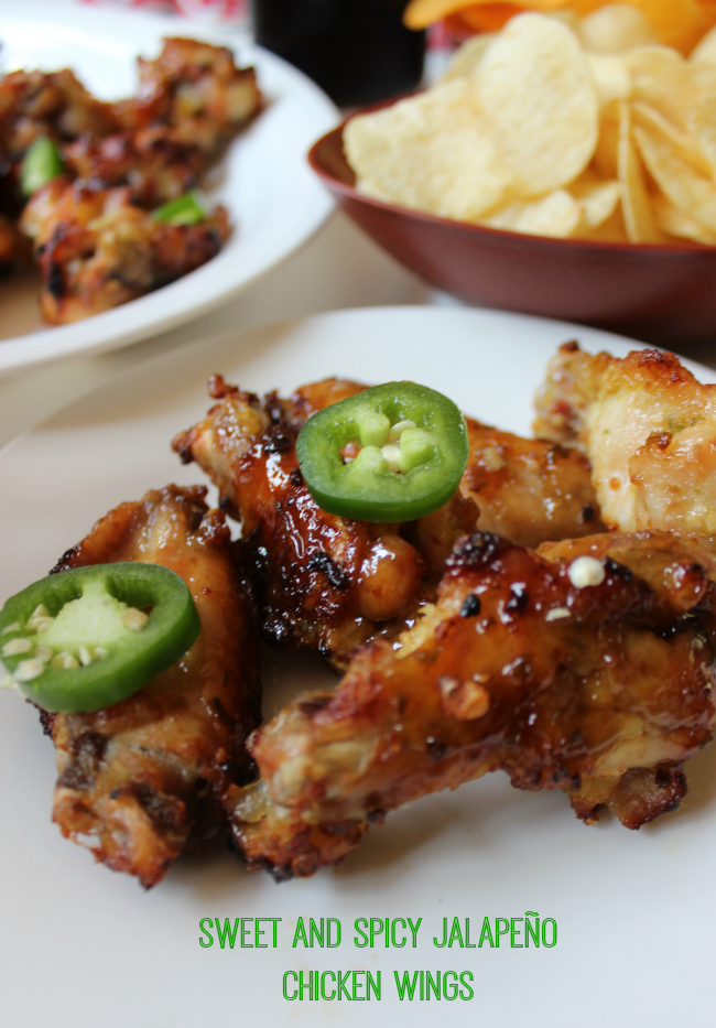Baked Sweet and Spicy Jalapeño Chicken Wings