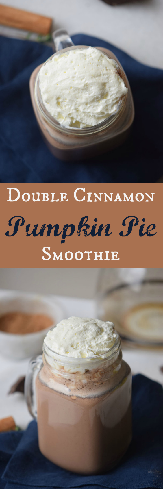 Whip up one of these delicious Double Cinnamon Pumpkin Pie Smoothie, it's an excellent to kickstart your day