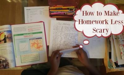How to Make Homework Less Scary