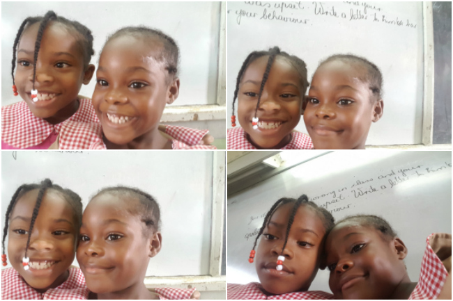 selfie-collage-with-student-of-mount-airy-primary-and-infant-school-travel-volunteer-abroad