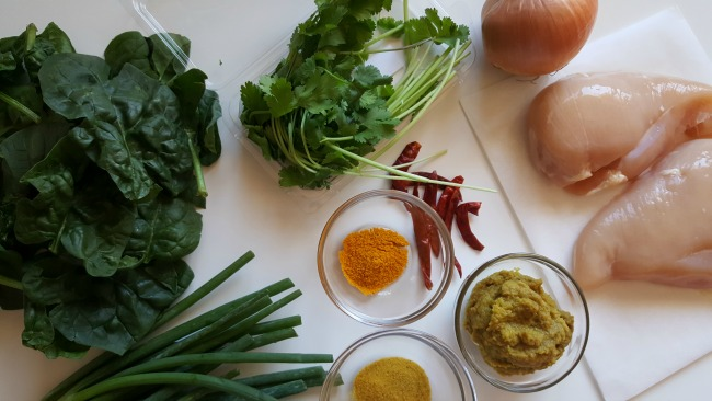 East African-Style Chicken Curry ingredients