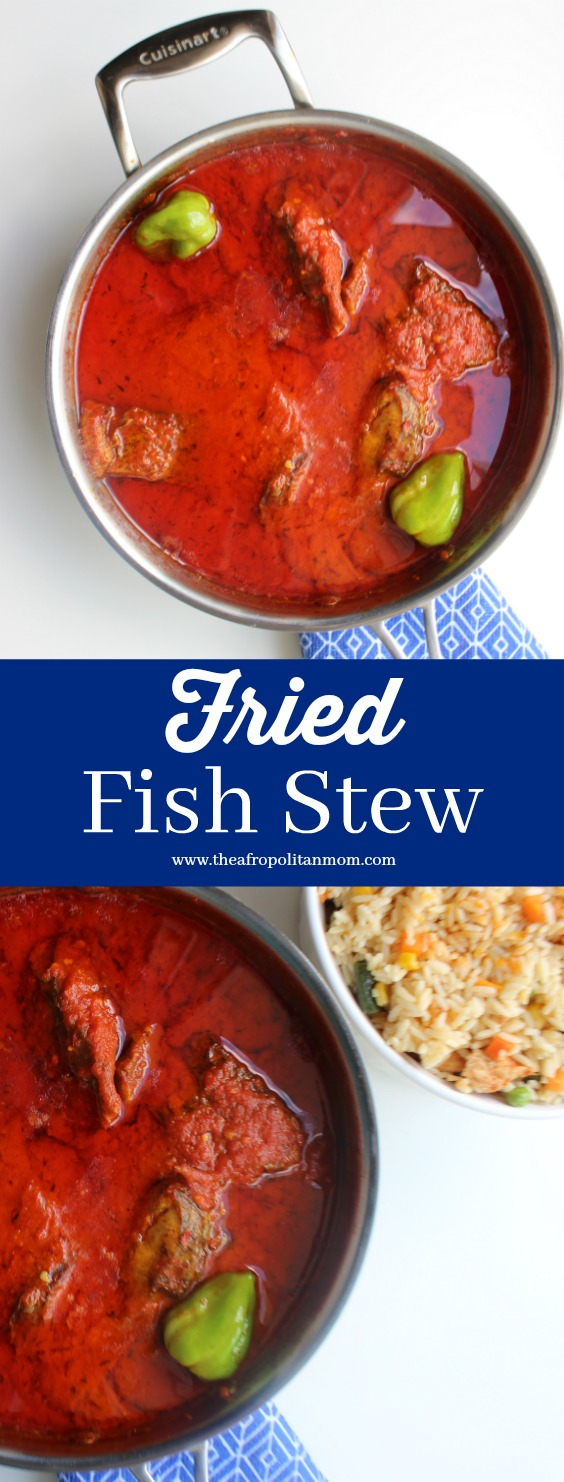 Authentic African Fish Stew - Nigerian Fried Fish Stew. An African event isn't complete without this recipe.