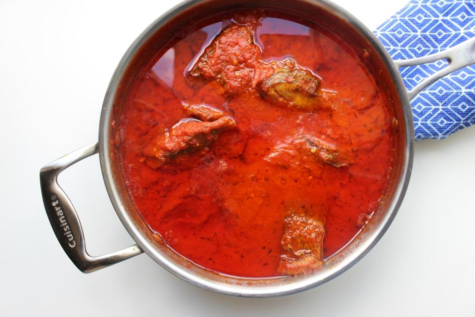 Nigerian Fried Fish Stew