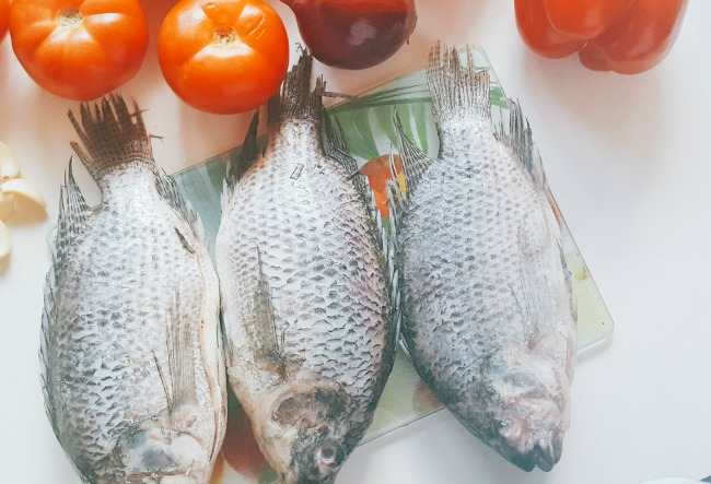 whole fresh tilapia for Nigerian fish stew