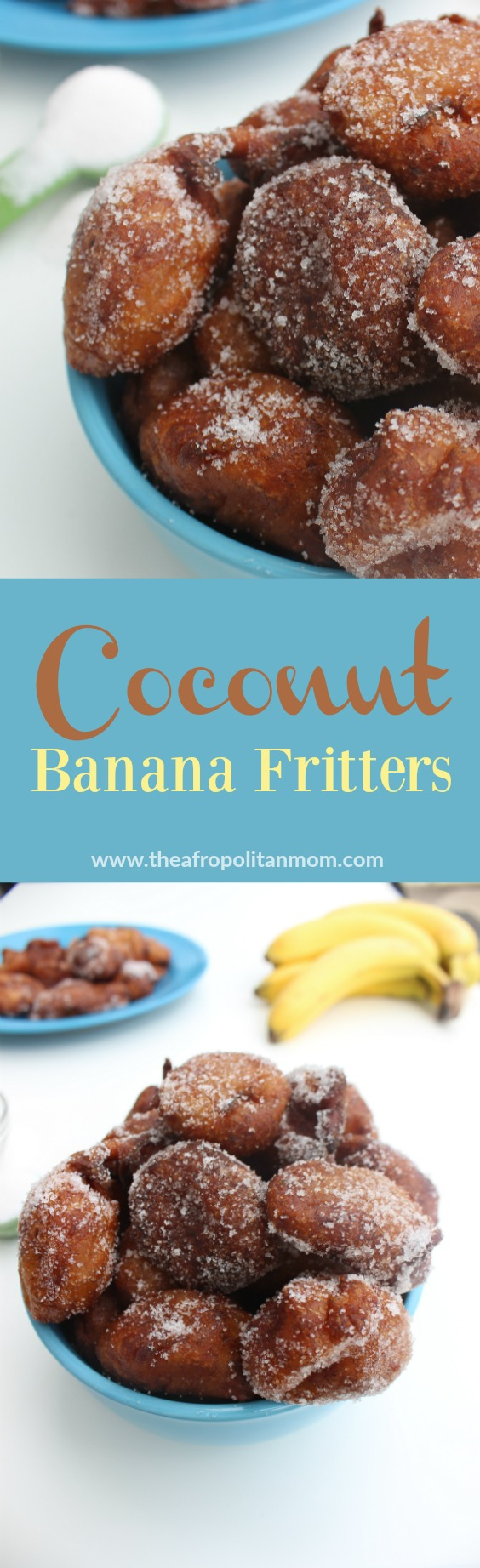 on the outside and tender on the inside, these coconut banana fritters ...