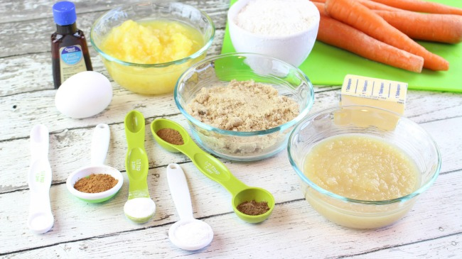 Ingredients for Carrot Cake Muffins