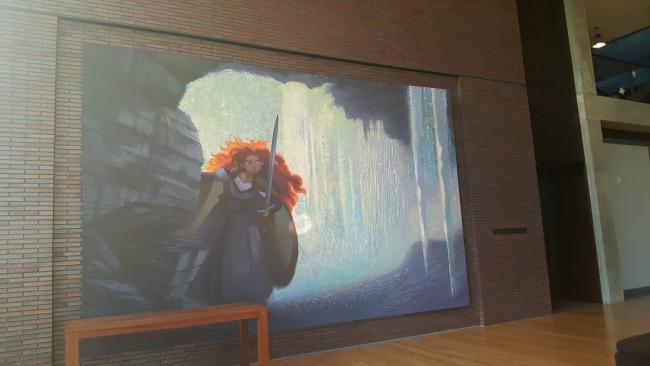 Brave painting at Pixar Animation Studios