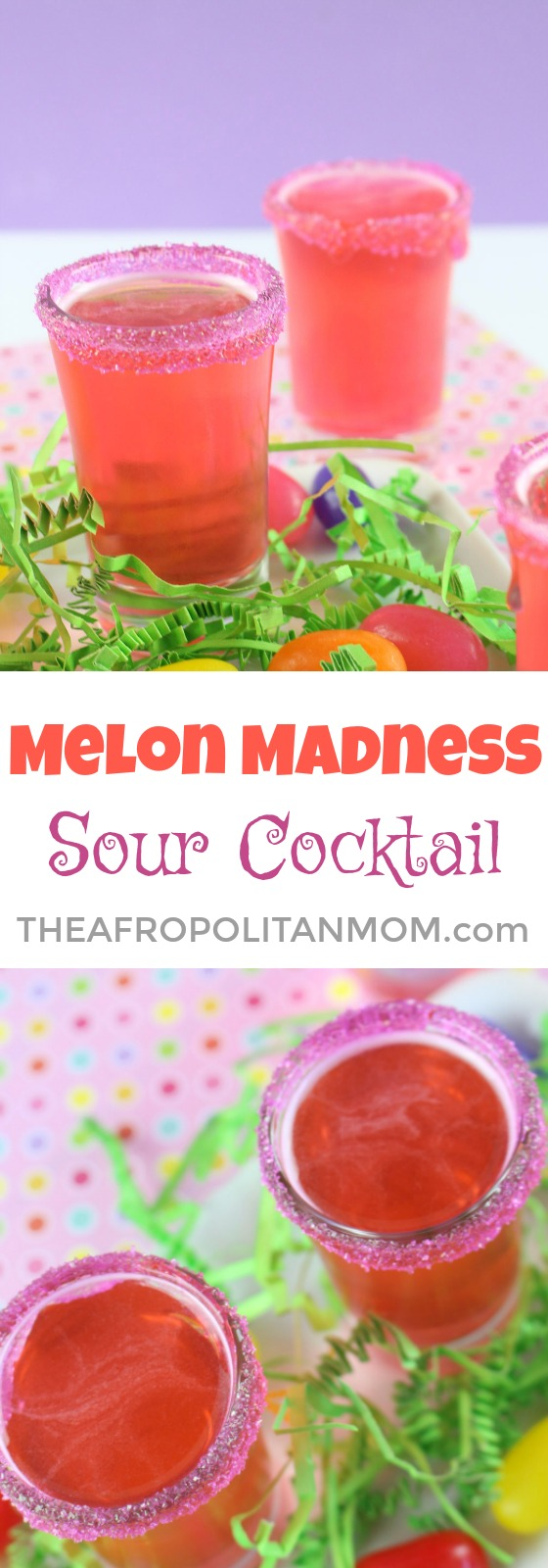 Sunday Brunch? Give this Melon Madness Sour Cocktail a try. It's the perfect drink to have with your best girlfriends