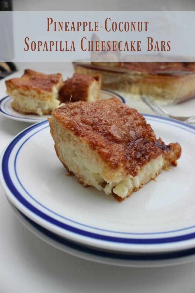 Pineapple-Coconut Sopapilla Cheesecake Bar