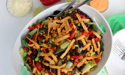 Vegetarian Tostada Salad