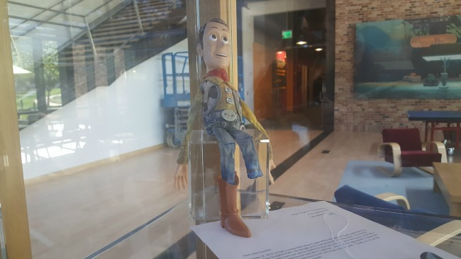 woody old returned pixar studio