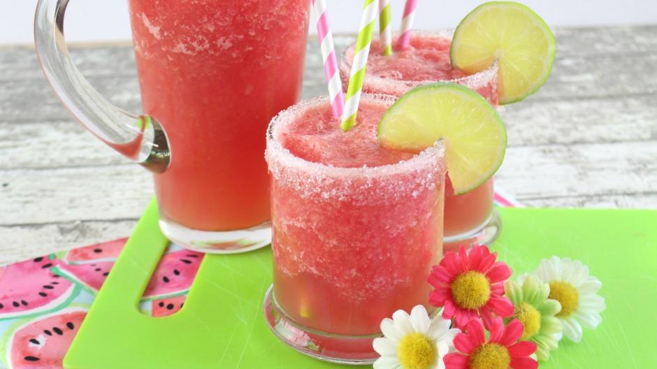 Easy Frozen Watermelon Mocktail Recipe