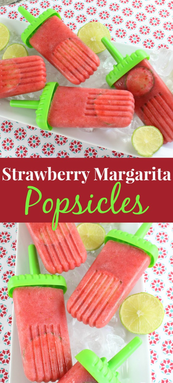 Make your own homemade Paleo-Vegan Strawberry Margarita Popsicles. An easy, boozy and icy treat perfect for hot summer days.