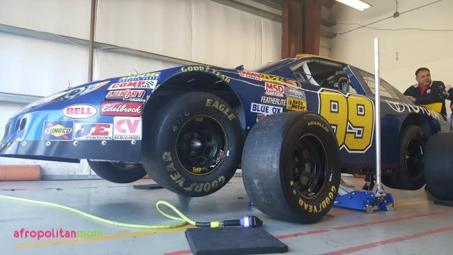 changing tire at Somoma Raceway