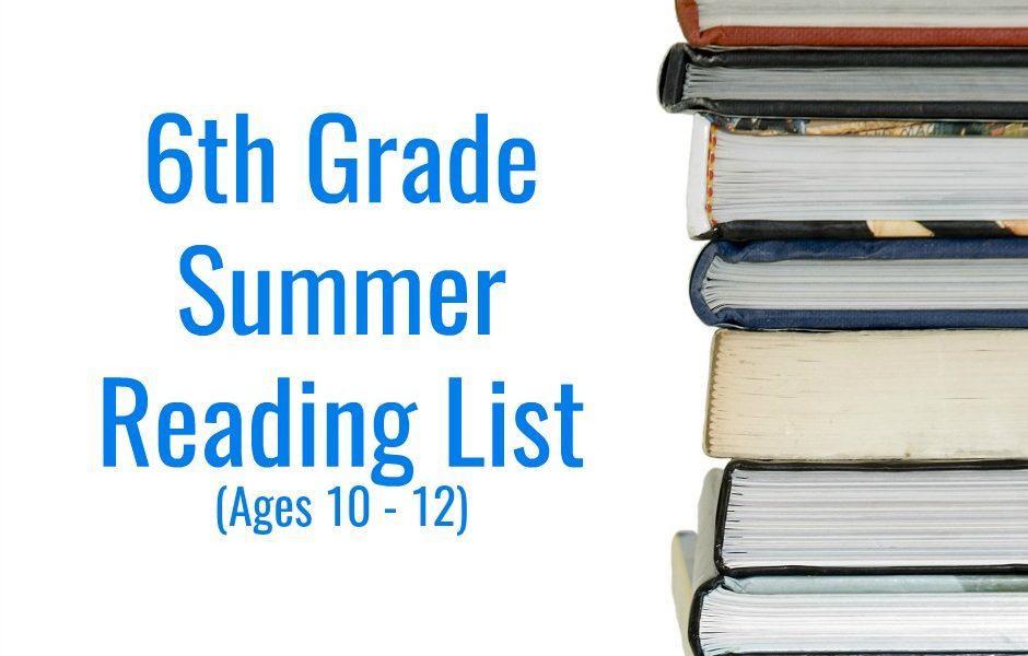 6th Grade Summer Reading List