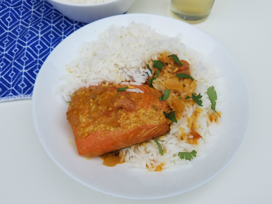 Easy Coconut-Salmon Curry