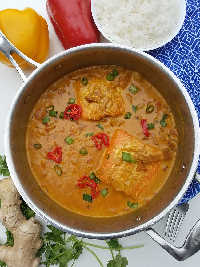Indian coconut curry fish recipe