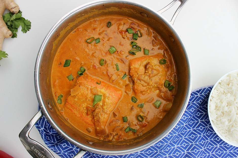 Spicy Coconut-Salmon Curry