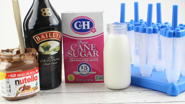 Ingredients for Nutella Baileys Fudgesicles