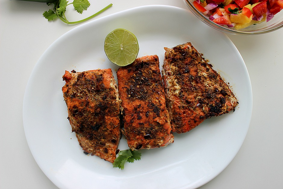 Pan-Seared Cajun Blackened Salmon