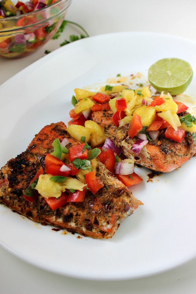 Pan Seared Cajun Blackened Salmon Afropolitan Mom