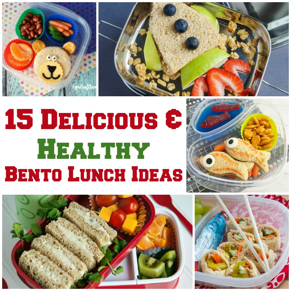 15 Delicious - Healthy Bento Lunch Ideas