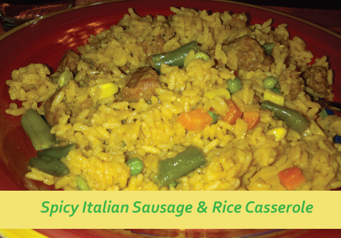 Spicy Italian Sausage & Rice Skillet