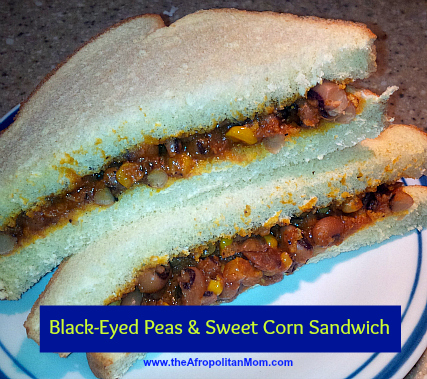 Black-Eyed Peas & Sweet Corn Sandwich