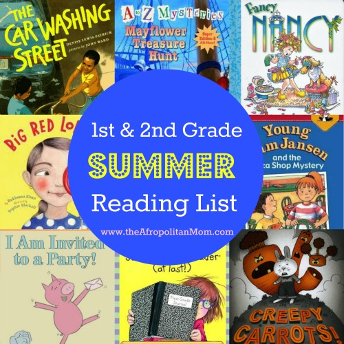 Summer Reading List for 1st and 2nd Grade