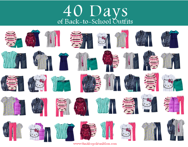 15 items 40 outfit for back to school for kids